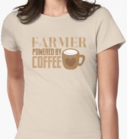 FARMER powered by coffee Womens Fitted T-Shirt