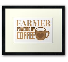 FARMER powered by coffee Framed Print