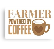 FARMER powered by coffee Canvas Print