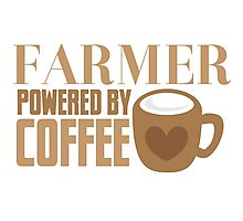FARMER powered by coffee Photographic Print