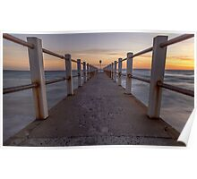 Chelsea Pier at Sunset Poster