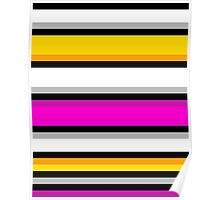 Simple Stripes - Pink/Yellow Poster