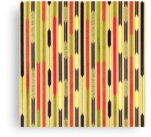 Tribal, Native American, Arrows, Bold Pattern Design Canvas Print