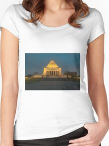 Shrine of Remembrance, Melbourne Women's Fitted Scoop T-Shirt