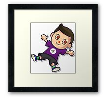 Purple Villager Framed Print