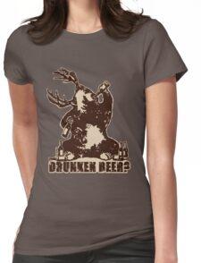 Deer, bear, drunken beer? Womens Fitted T-Shirt
