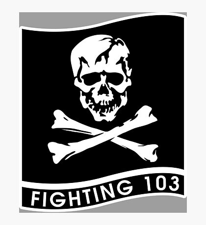 """Strike Fighter Squadron 103 """"the Jolly Rogers"""" - US Navy Photographic Print"""