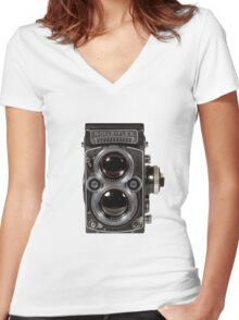 Rolleiflex Women's Fitted V-Neck T-Shirt