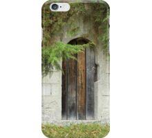 Round Wood Door in a Wall iPhone Case/Skin