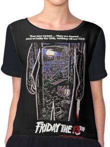 Friday 13th Horror Chiffon Top