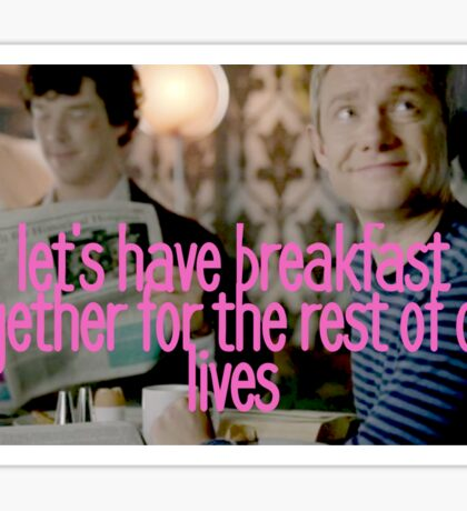Johnlock | Breakfast Sticker