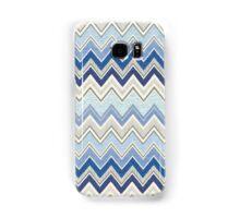 Geometric, Chevron, Tribal, Blue Hue Print Design Samsung Galaxy Case/Skin