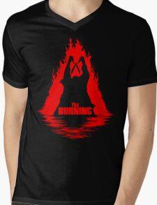 The Burning Mens V-Neck T-Shirt