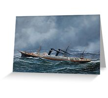 Antonio Jacobsen - 'S.S. New York' at Sea Greeting Card