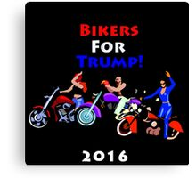Bikers For Trump 2016 Canvas Print