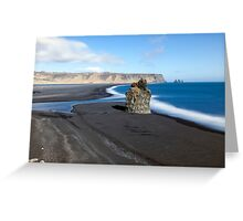 Black Beach at Vik Greeting Card