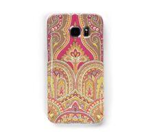 Tribal, Moroccan, Red Orange Brocade Design Samsung Galaxy Case/Skin