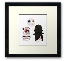 Pug Wars Framed Print