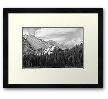 These Mountains Framed Print