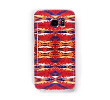 Tribal, Geometric, Bold, Bright Red/Orange Pattern Samsung Galaxy Case/Skin