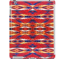 Tribal, Geometric, Bold, Bright Red/Orange Pattern iPad Case/Skin
