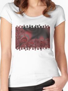 Red Swirls Women's Fitted Scoop T-Shirt
