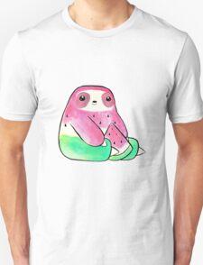 Watermelon Watercolor Sloth Unisex T-Shirt