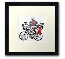 Brain Bike Framed Print