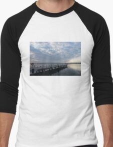 Morning Jetty - A Luminous Daybreak On The Waterfront Men's Baseball ¾ T-Shirt
