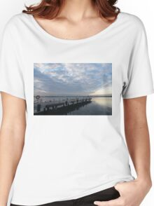 Morning Jetty - A Luminous Daybreak On The Waterfront Women's Relaxed Fit T-Shirt