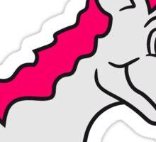 unicorn riding sweet little cute pony horse pferdchen child baby girl Sticker