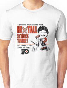 Flyers Ron Hextall Strikes Twice Unisex T-Shirt
