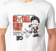 Flyers Ron Hextall Strikes Twice Unisex T-Shirt
