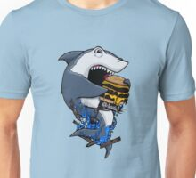 Burger Shark Unisex T-Shirt