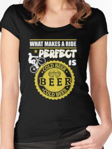 Beer lovers and riding bike! Women's Fitted Scoop T-Shirt