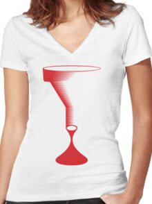 bloody funnel Women's Fitted V-Neck T-Shirt