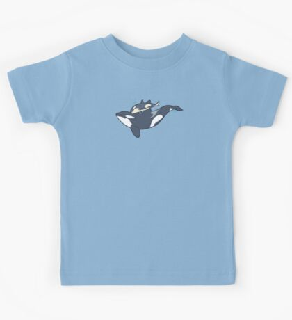 Orca mother and calf Kids Tee