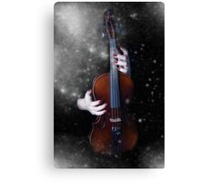 The winter's music Canvas Print
