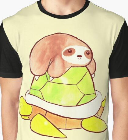 Little Sloth and Big Turtle Graphic T-Shirt