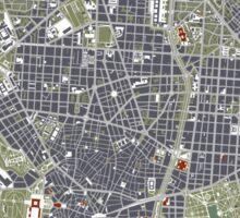 Madrid city map engraving Sticker