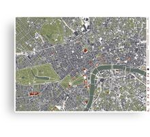 London city engraving map Canvas Print