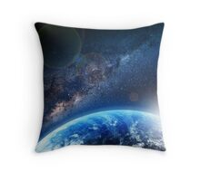 Galaxy - We are not alone. Throw Pillow