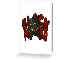 BLACK LION Greeting Card