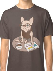 The Hipster Reader Classic T-Shirt