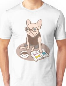 The Hipster Reader Unisex T-Shirt