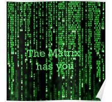 The Matrix has you Poster