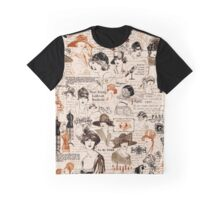 Hats Hats Hats Brown Graphic T-Shirt