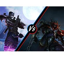 League Of Legends Zed Vs Shen Photographic Print
