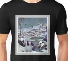 Anthropomorphic Rabbit in the Snow - Composite Image Unisex T-Shirt