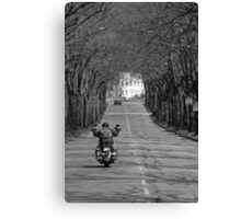 A viking on the road Canvas Print